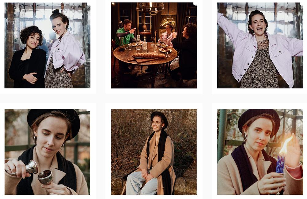 Recent posts on Helene Shani Braun's Instagram account. Screenshot