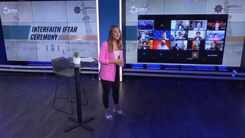 Natasha Kirtchuk hosts the American Muslim & Multifaith Empowerment Council (AMWEC) virtual 2021 Interfaith Iftar Ceremony. Video screengrab