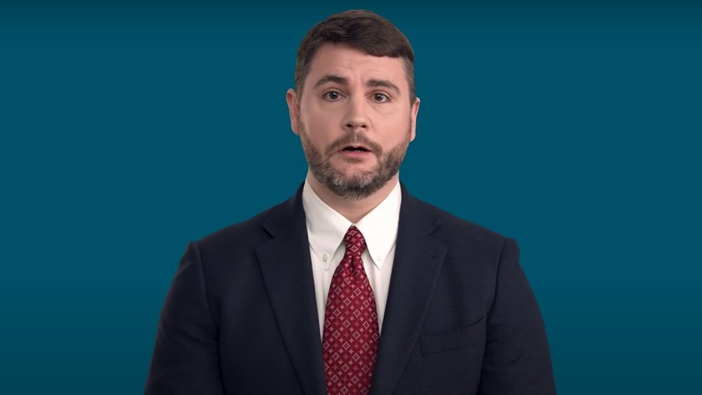 James Lindsay talks about critial race theory in an online video in April 2021. Video screengrab