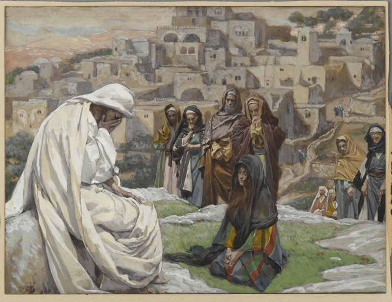 """""""Jesus Wept"""" by James Tissot, circa 1890. Image courtesy of the Brooklyn Museum/Creative Commons"""