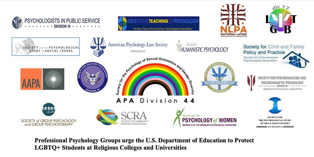 Logos of groups participating in a letter to the U.S. Dept. of Education. Courtesy image