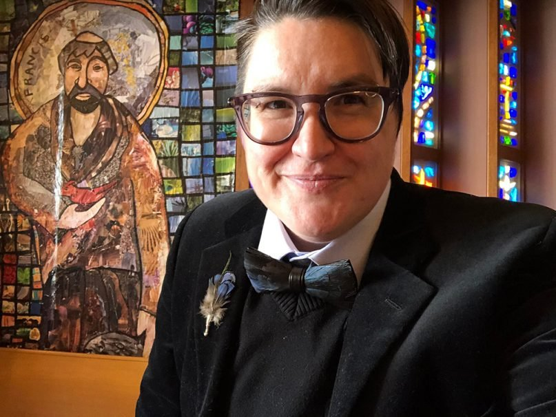 An undated selfie of the Rev. Megan Rohrer, who was elected bishop of the Evangelical Lutheran Church in America's Sierra Pacific Synod on Saturday, May 8, 2021, becoming the first transgender person to serve as bishop in any of the major Christian denominations in the United States. Photo courtesy of Meghan Rohrer