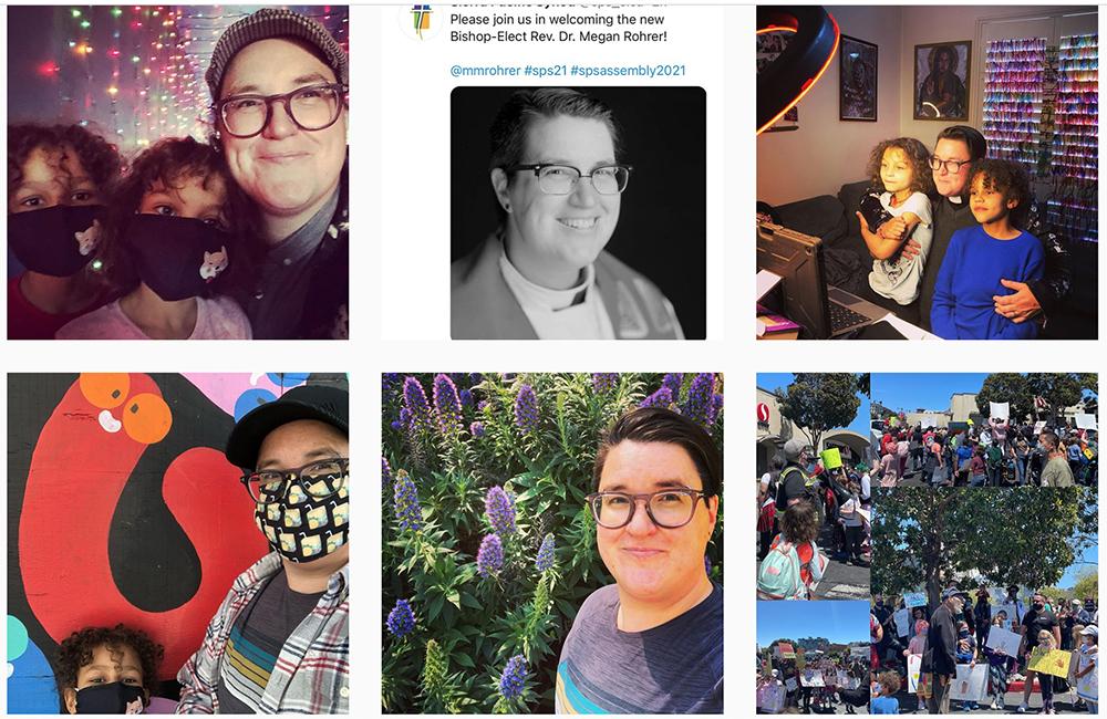 Recent Instagram posts by the Rev. Megan Rohrer. Screengrab via @mmrohrer