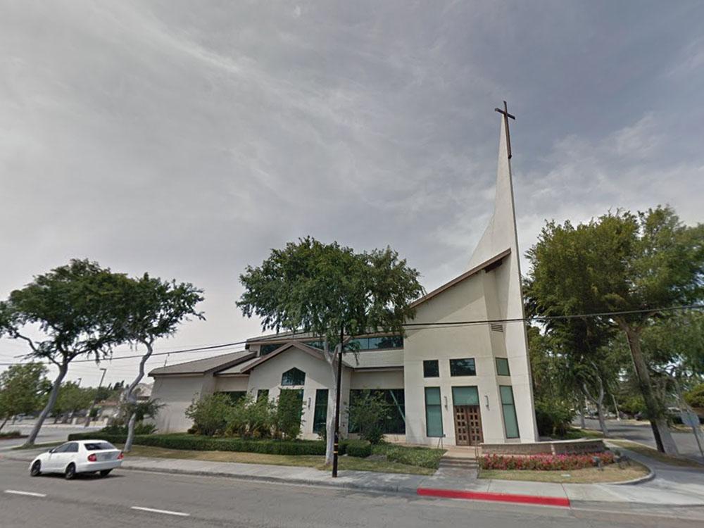 St. Philip Benizi Catholic Church in Fullerton, California. Image courtesy of Google Maps