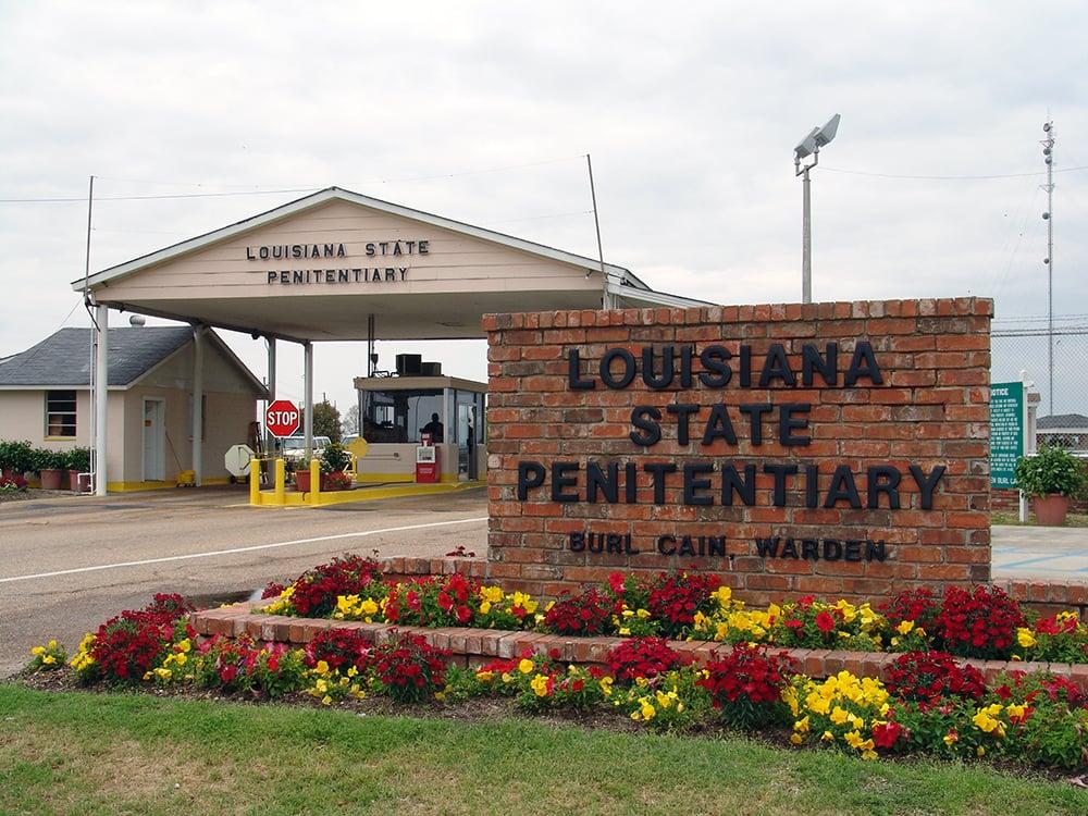 The entrance to Louisiana State Penitentiary in Angola, Louisiana. Photo courtesy of New Orleans Theological Seminary
