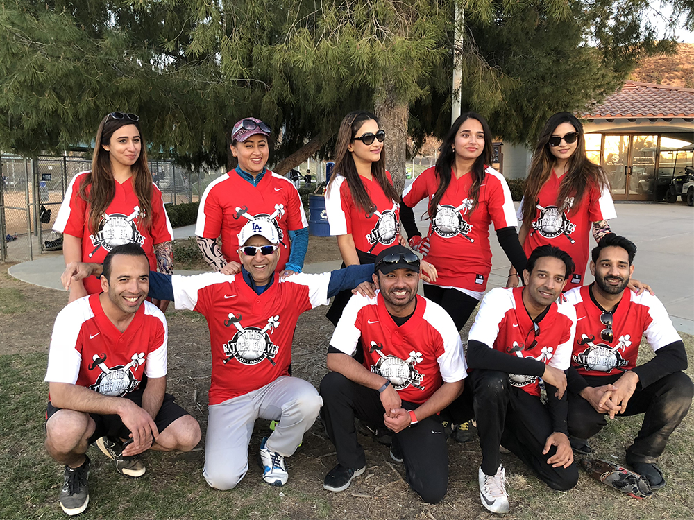 The Better Halves softball team, made up of five Muslim couples in Santa Clarita Valley, California, have continued playing in their softball league despite Ramadan, seeing it as an oppurtunity to build interfaith understanding. Photo by Aamir Kazi