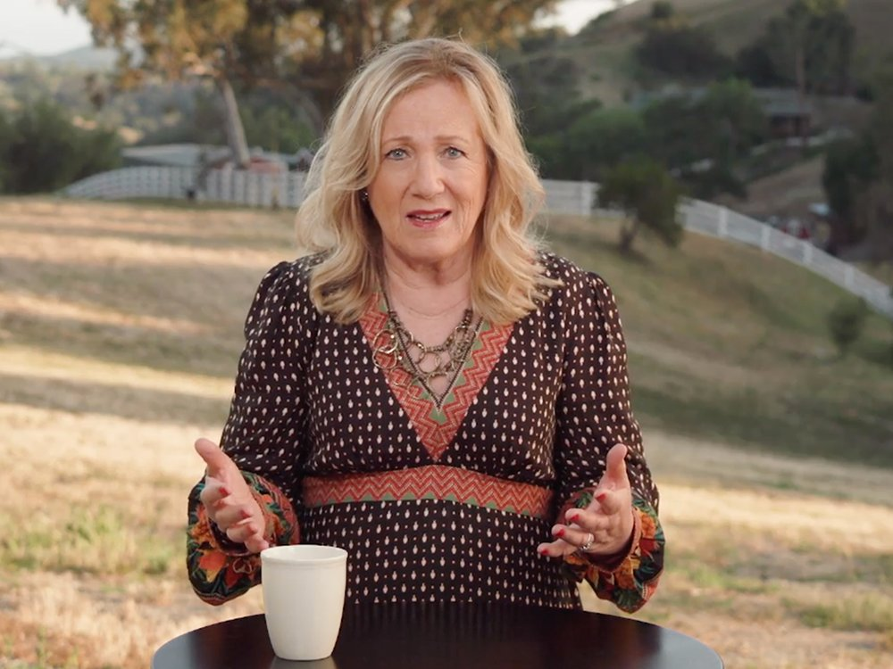 """Kay Warren, wife of Saddleback Church pastor Rick Warren, delivers the message titled """"How to be the G.O.A.T."""" for Saddleback's Mother Day services, Sunday, May 9, 2021. Video screengrab"""