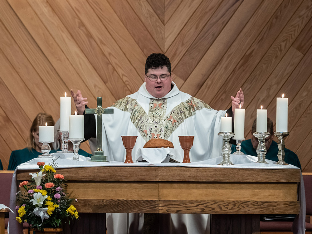 Vicar Derek Kubilus serves as pastor of Uniontown United Methodist Church in Uniontown, Ohio. Photo by Brian Koch