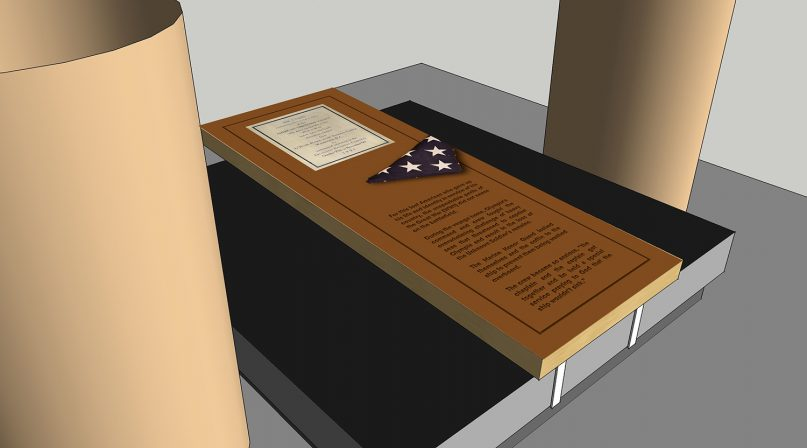 An illustration of the design of the Unknown Soldier Historical Marker that is to be unveiled on Memorial Day. Photo courtesy of En Route