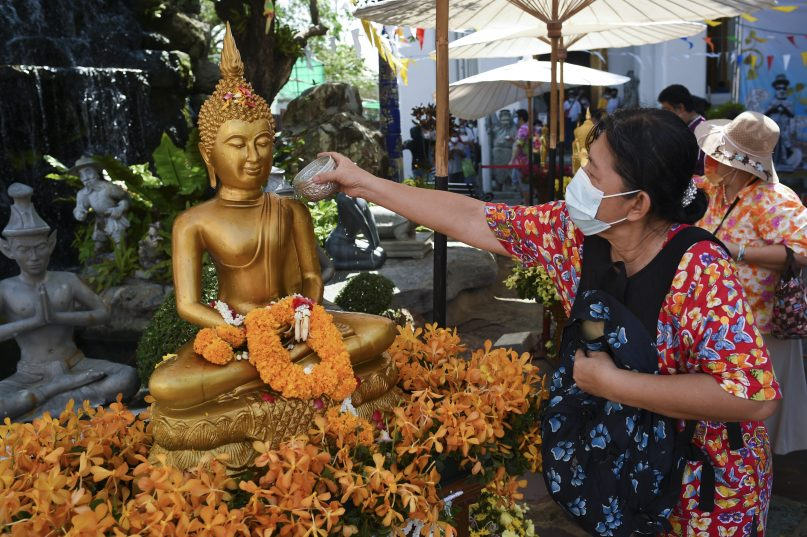 International tourism dropped considerably to Thailand Buddhist temples as a result of the COVID-19 pandemic. (Anusak Laowilas/NurPhoto via Getty Images)