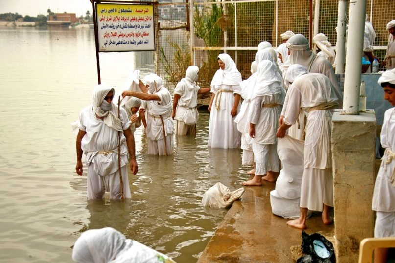 Like their ancient ancestors, contemporary Mandaeans revere John the Baptist and consider baptism the most important of their religious rituals. (Hadi Mizban/AP)