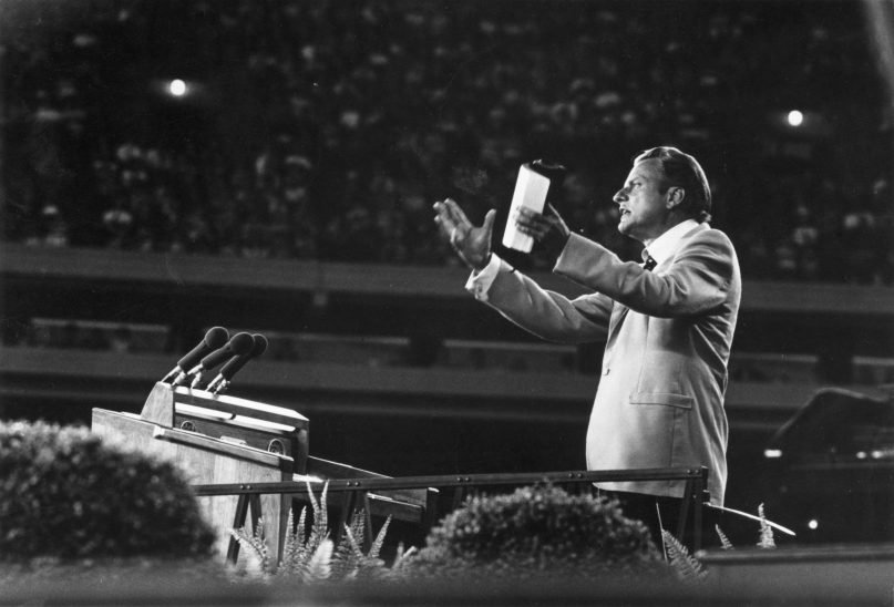 Evangelist Billy Graham came to have an enormous influence on American politics and culture. (Keystone/ Collections Hulton Archive/Getty Images)