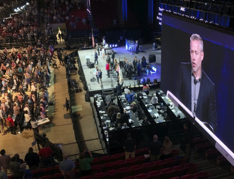 J.D. Greear, president of the Southern Baptist Convention, has called on the denomination to focus on its theological mission. (AP Photo/Jay Reeves, File)