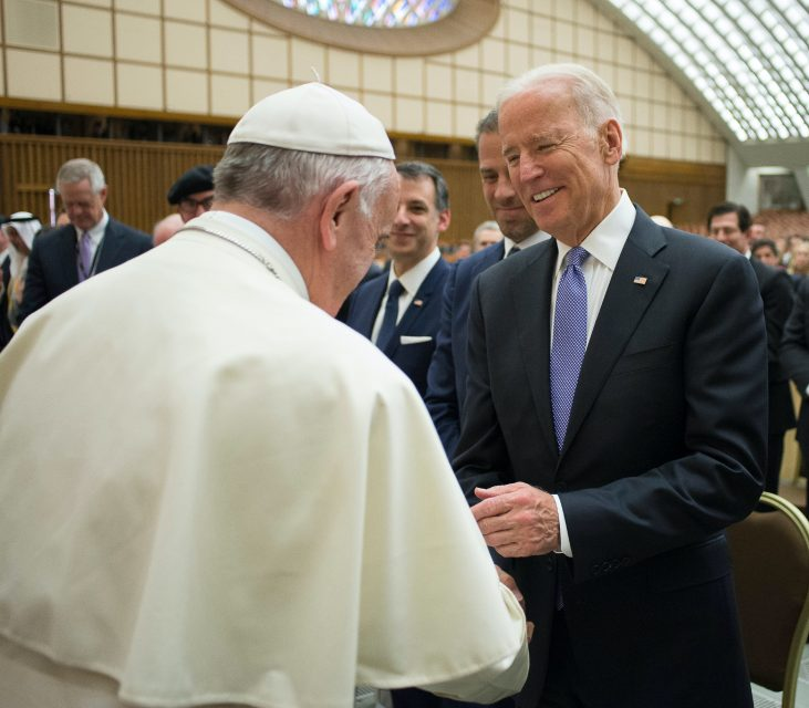 The Vatican has warned U.S. bishops not to deny Communion to President Biden. (L'Osservatore Romano/Pool photo via AP)
