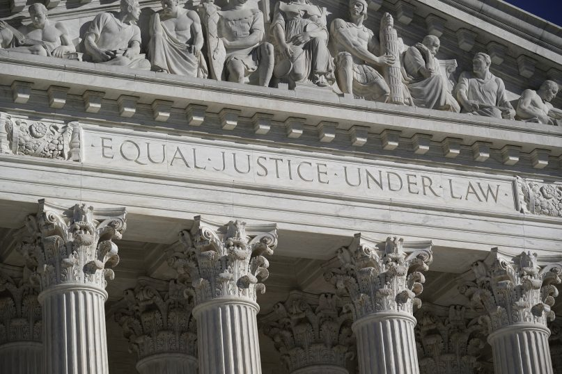In this Nov. 4, 2020, file photo, the Supreme Court is seen in Washington.  (AP Photo/J. Scott Applewhite, File)