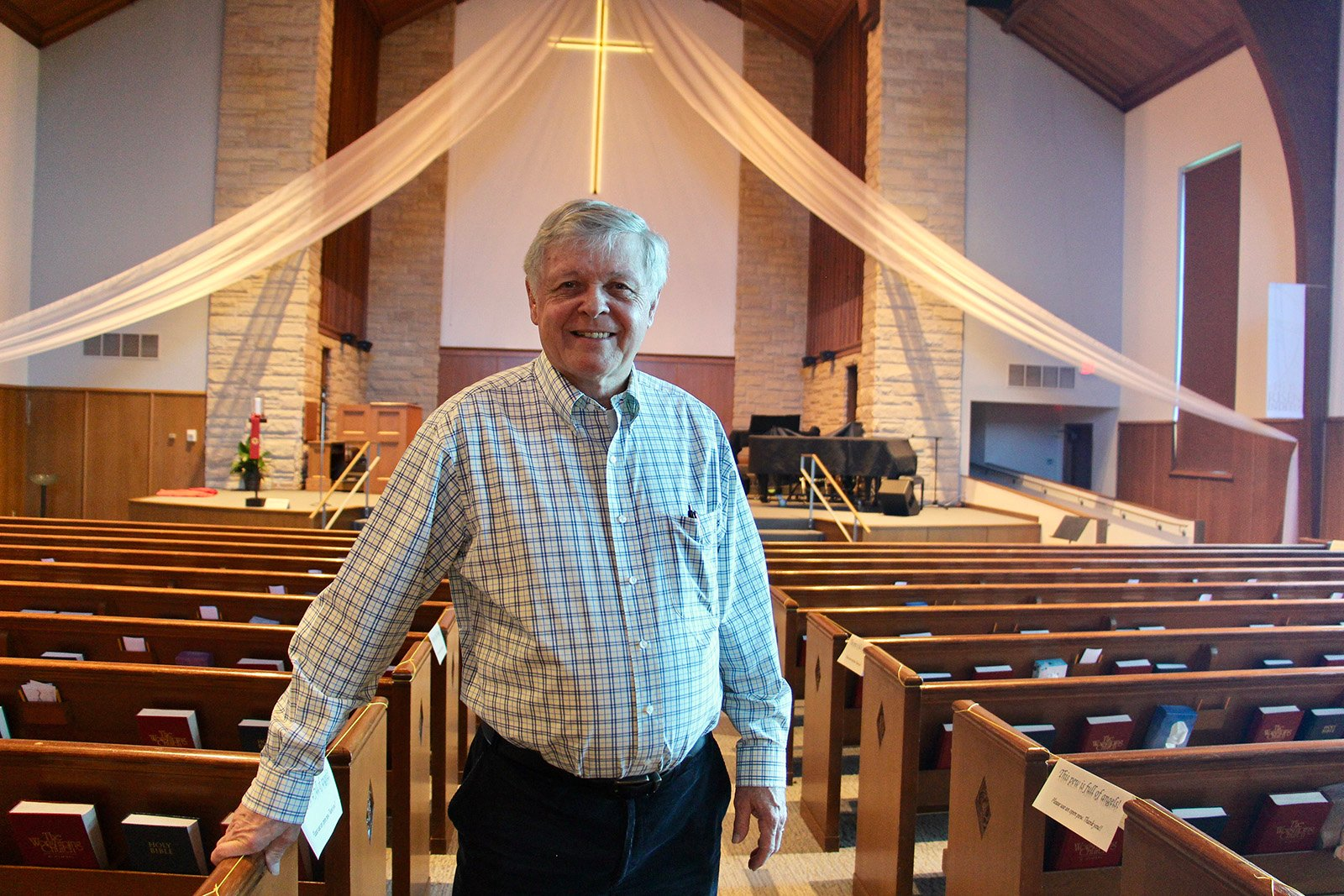 Dave Lubbers, who co-leads the refugee resettlement committee at Fifth Reformed Church, May 18, 2021, at the church in Grand Rapids, Michigan. RNS photos by Emily McFarlan Miller