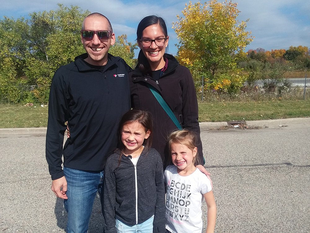 Josh and Jessica Sprunger with their children. Photo courtesy of Jessica Sprunger