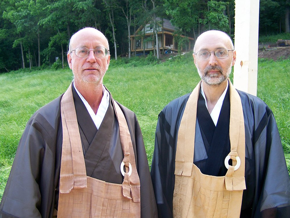 Abbot of Chosei Zen Gordon Hakuun Greene Roshi, left, and Abbot Emeritus Kenneth Hakuun Kushner Roshi. Photo courtesy of Anita Taylor/Chosei Zen