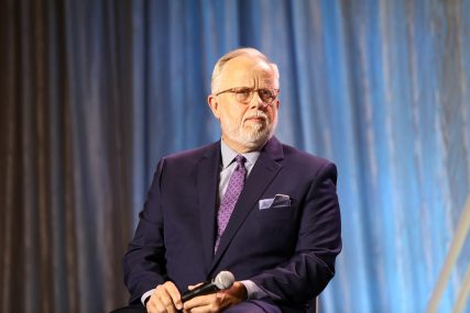 The Rev. Ed Litton participates in a panel during the Southern Baptist Convention annual meeting, Tuesday, June 15, 2021, in Nashville. RNS photo by Kit Doyle