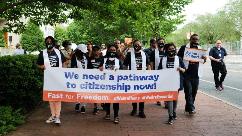 Activists march in support of pathway to citizenship legislation in Washington, D.C. Photo courtesy of Faith in Action
