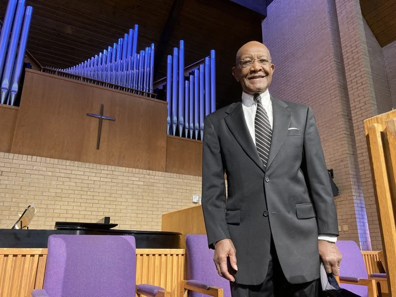 The Rev. James A. Forbes Jr. at St. Joseph AME Church in Durham, North Carolina, on Thursday, June 17, 2021. RNS photo by Yonat Shimron