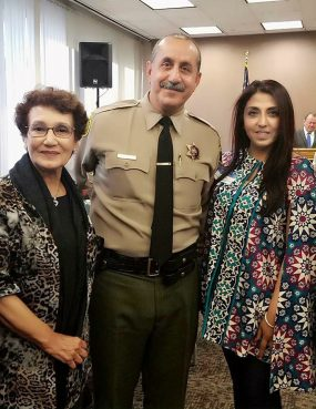 Dr. Farhat Zubair, from left, Sergeant Mike Abideen and Faryal Khan participated in past AMMWEC programs. Courtesy photo