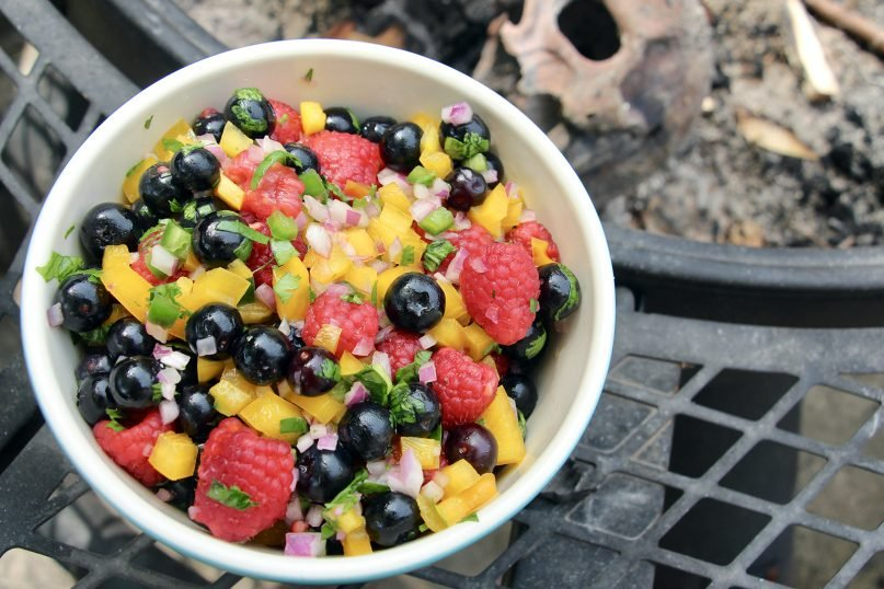 """Spicy Berry Salsa from""""The Magick of Food""""by Gwion Raven. RNS photo and staging by Emily McFarlan Miller"""