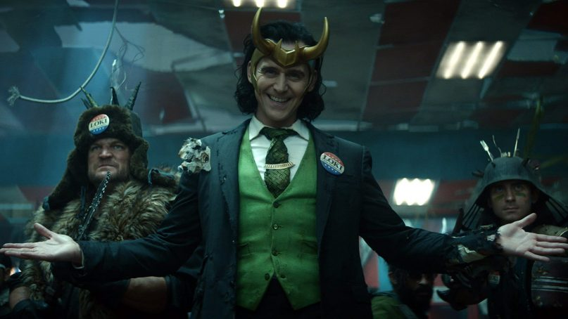 """Actor Tom Hiddleston, center, stars in the title role of the new Disney+ series, """"Loki."""" Photo courtesy of Marvel Studios"""