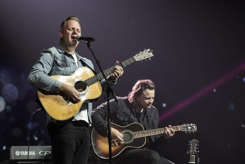 Matthew West, an award-winning songwriter, performs during the North American Mission Board Send Luncheon on June 14, 2021, at the Music City Center in Nashville, Tenn. Photo by Eric Brown/Baptist Press
