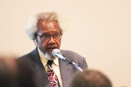 Rev. Robert E. Wilson, Sr. speaks during the SBC National African American Fellowship dinnner on Monday, June 14. RNS photo by Adelle Banks