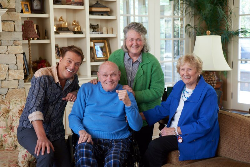Michael W. Smith, from left, his father Paul, sister Kimberly Smith Bennett, and mother Barbara. Photo courtesy of The MWS Group