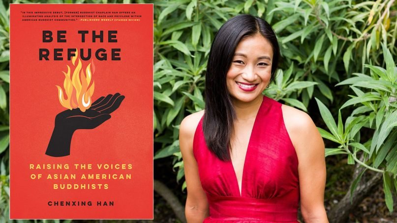 """""""Be the Refuge: Raising the Voices of Asian American Buddhists"""" and author Chenxing Han. Photo by Sarah Deragon, via social media"""