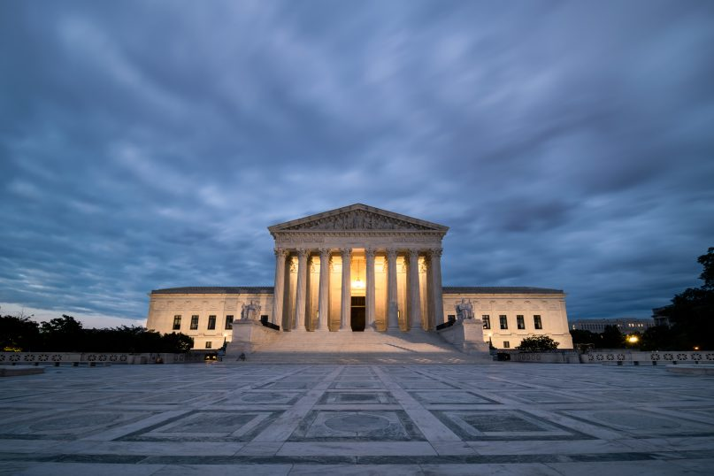 Illuminating recent Supreme Court rulings. (Geoff Livingston via Getty Images)