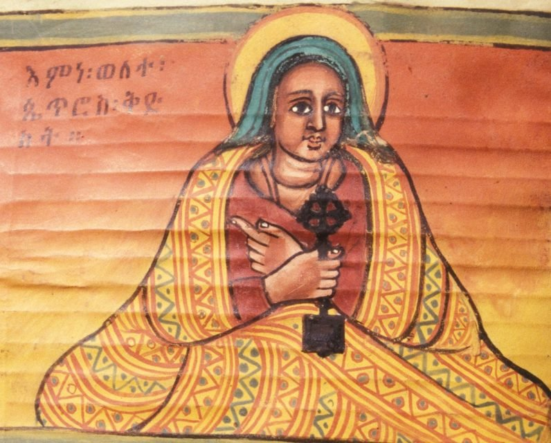 The story of Walatta Petros, a 17th-century Ethiopian noblewoman who was later made a saint, shows that Christianity has a complex history with abortion and contraception. (A 1721 manuscript/Wikimedia Commons)