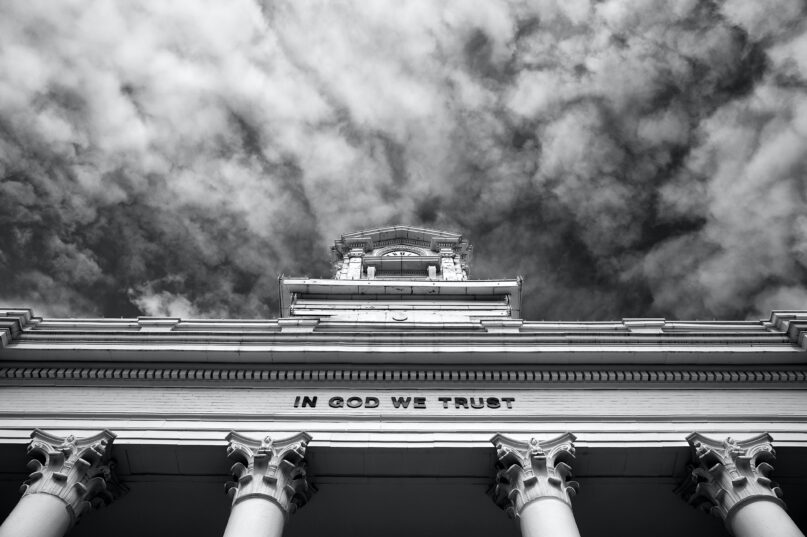 Christian nationalists are pushing for 'In God We Trust' to be omnipresent. (Joe Longobardi Photography via Getty Images)