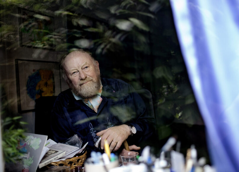 FILE - In this June 6, 2010 file photo, Danish cartoonist Kurt Westergaard is seen at his home near Aarhus, Denmark.  Danish cartoonist Kurt Westergaard, whose image of the Prophet Muhammad wearing a bomb as a turban was at the center of widespread anti-Danish anger in the Muslim world in the mid-2000s, has died aged 86, Westergaard's family announced Sunday July 18, 2021. (Peter Hove Olsen / Polfoto via AP, file)