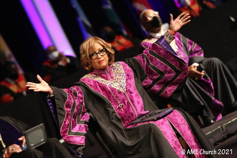 Bishop Vashti Murphy McKenzie was the opening preacher for the 51st annual African Methodist Episcopal General Conference and will be retiring this year. Photo courtesy of AME Church