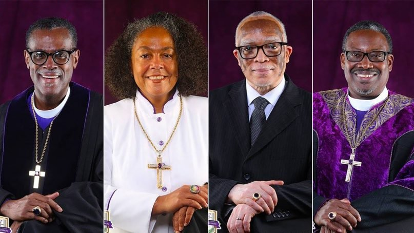 Newly elected African Methodist Episcopal Chuch bishops include, from left: Silvester Scott Beaman, Francine A. Brookins, Frederick A. Wright and Marvin Clyde Zanders II. Photos courtesy of the AME Church