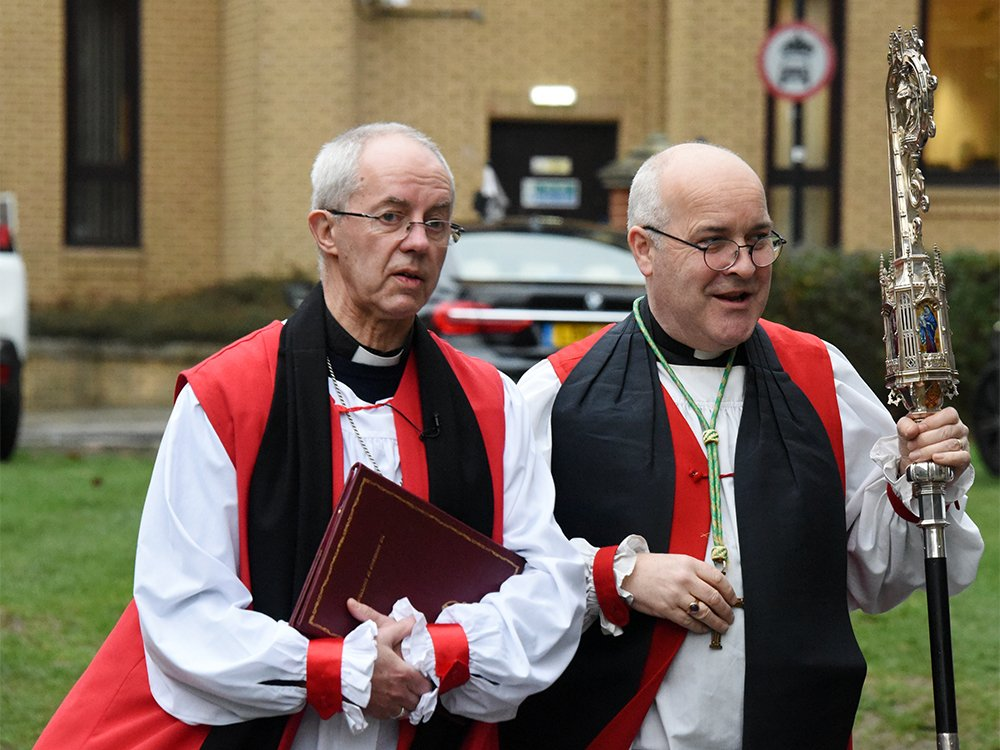 Archbishop of Canterbury Justin Welby, left, and Archbishop of York Stephen Cottrell. Photo by Nicholas Robinson/Creative Commons
