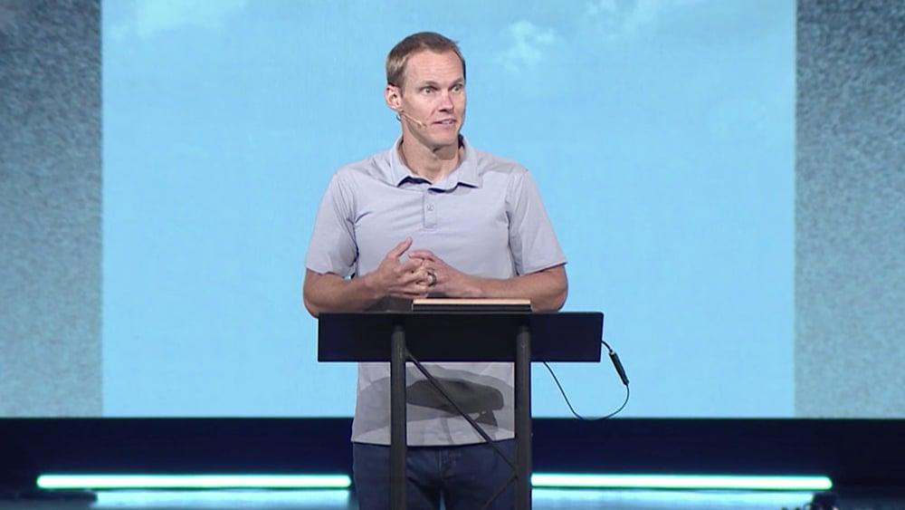 Pastor David Platt preahes at McLean Bible Church, July 18, 2021, in Vienna, Virginia. Video screengrab via MBC