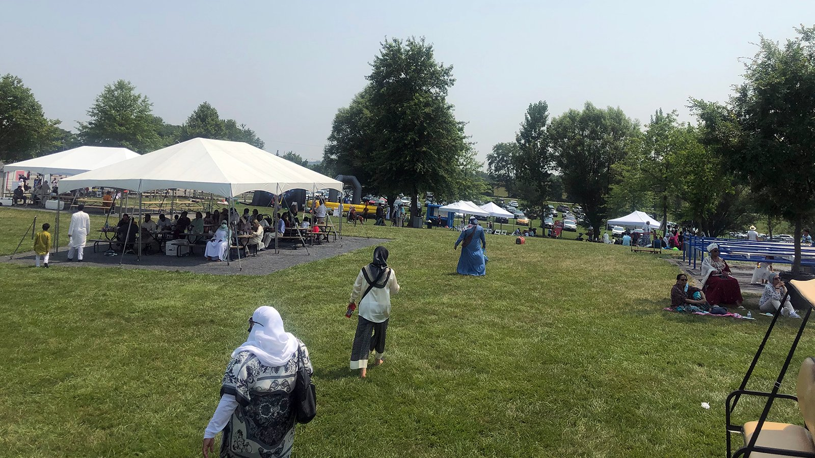 People attend an Eid al-Adha celebration at the Green Meadows Petting Farm in Ijamsville, Maryland, Tuesday, July 20, 2021. Photo courtesy of Laila Tauqeer