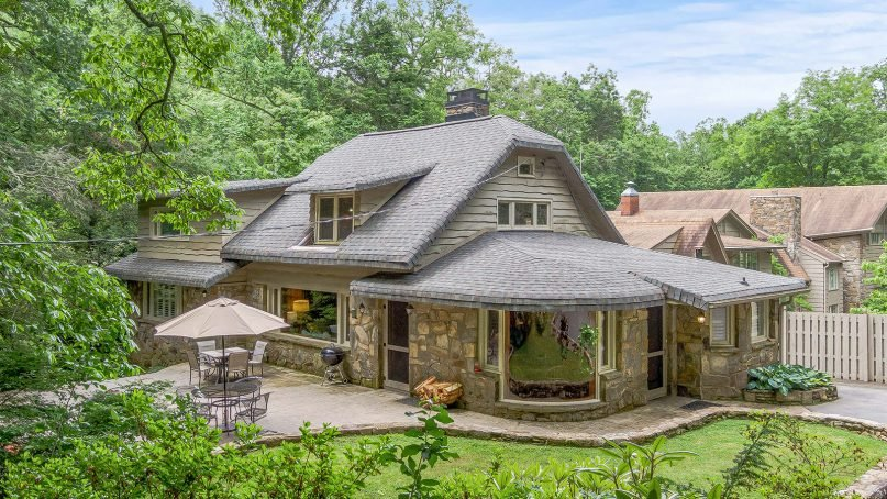 This four-bedroom house at 198 Mississippi Road in Montreat, North Carolina, was Billy and Ruth Graham's first home. Photo courtesy of Single Point Media