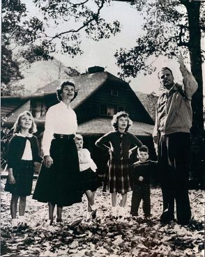 The Graham family at their home in Montreat, North Carolina, in an undated photo. Photo courtesy of Single Point Media