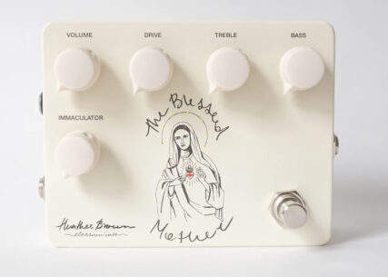 The Blessed Mother guitar pedal created by Heather Brown. Image courtesy of Brown's website