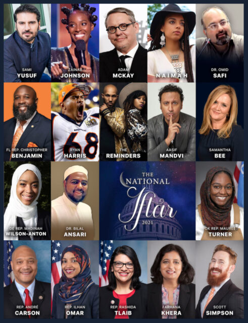 The presenters scheduled for The National Iftar event this year range from athletes to representatives. Screengrab courtesy of thenationaliftar.org