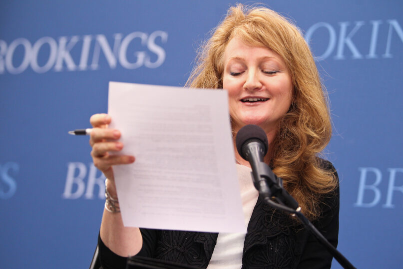 Krista Tippett at the Brookings Institution. Photo by Ghz89med/Wikimedia/Creative Commons