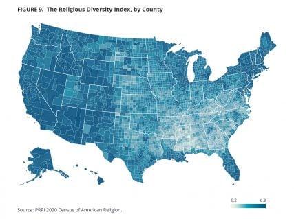 Chart courtesy of PRRI Census of American Religion