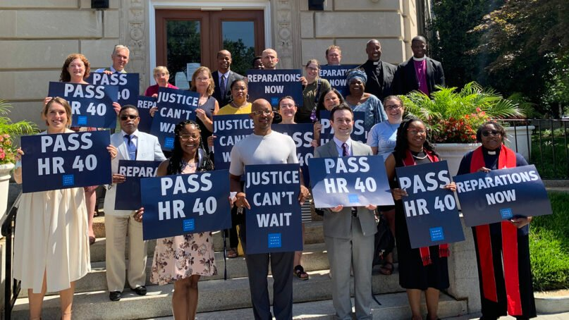 Faith leaders gather to express their support for H.R. 40, a bill that would establish a commission to study reparations, July 13, 2021, in Washington, D.C. Photo courtesy of Network