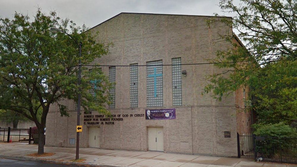 Roberts Temple Church of God in Christ in Chicago. Image courtesy of Google Maps