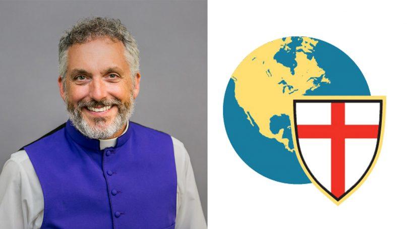 Bishop Stewart Ruch III, left, and the Anglican Church in North America logo. Photo via ChurchRez.org